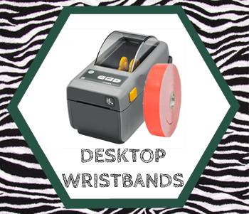 wristbands for desktop printers